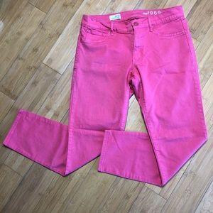 Gap Legging Jean cropped leggin red peach 30/10R